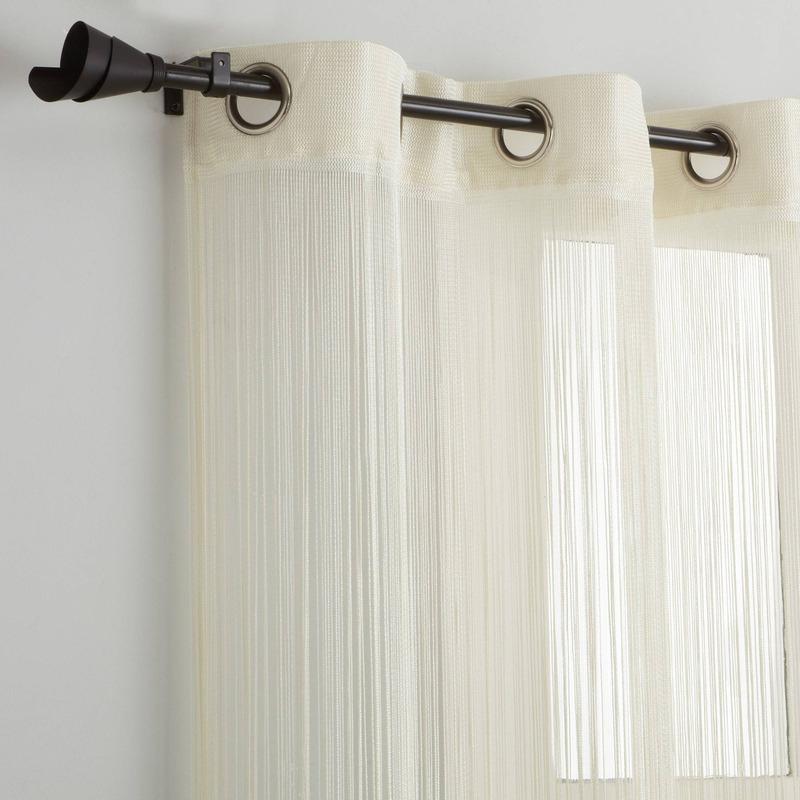 Rideau Fils Uni À Oeillets - Ivoire - 3Suisses Collection encequiconcerne Rideau Fil Blanc