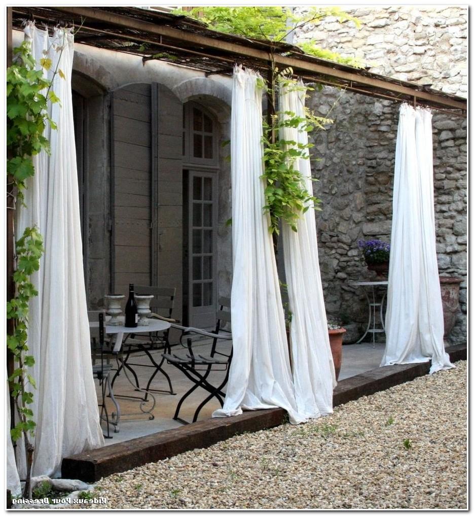 Rideau Imperméable Pour Terrasse - Rideau : Idées De dedans Rideau Plastique Transparent Pour Terrasse