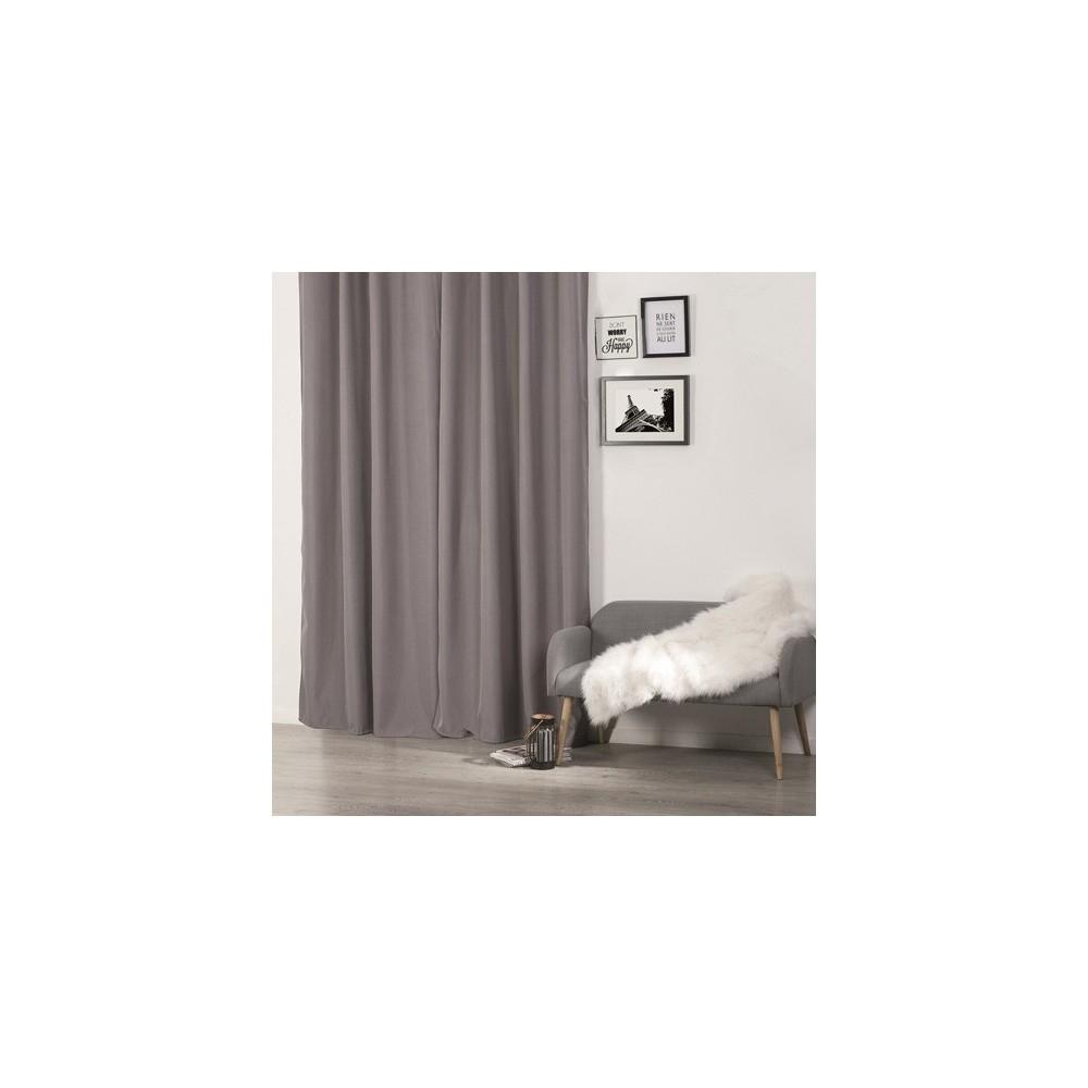 Rideau Isolant - 140 X 260 Cm. - Polyester - Gris - Decoandgo intérieur Rideau Isolant Du Froid