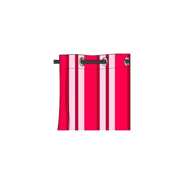 Rideau Motif Baya Fushia Bonbon - Deco-Tissus pour Rideau Fushia