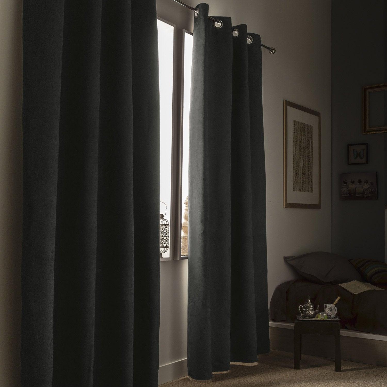 Rideau Occultant, Thermique Et Phonique, Leeds, Gris, L intérieur Rideau Isolant Thermique Et Phonique
