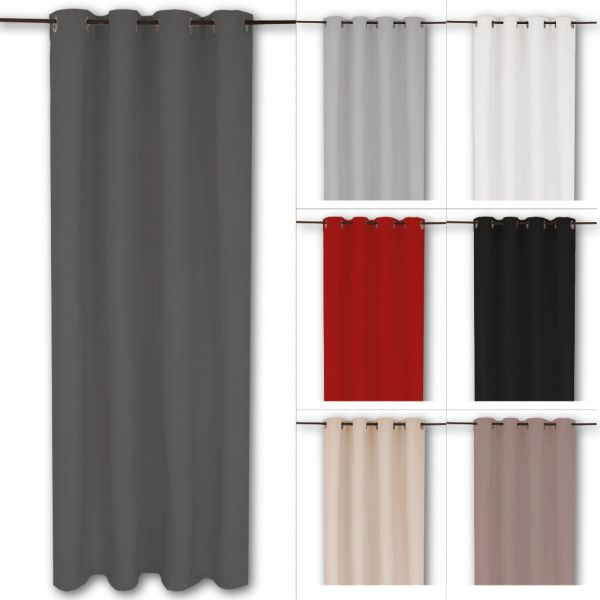 Rideau Oeillets Thermique Tentures Opaque 140X245 Cm ( Bxl dedans Rideau Insonorisant