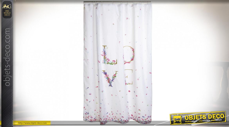 Rideau Polyester 180X200 Amour destiné Rideau Hauteur 180