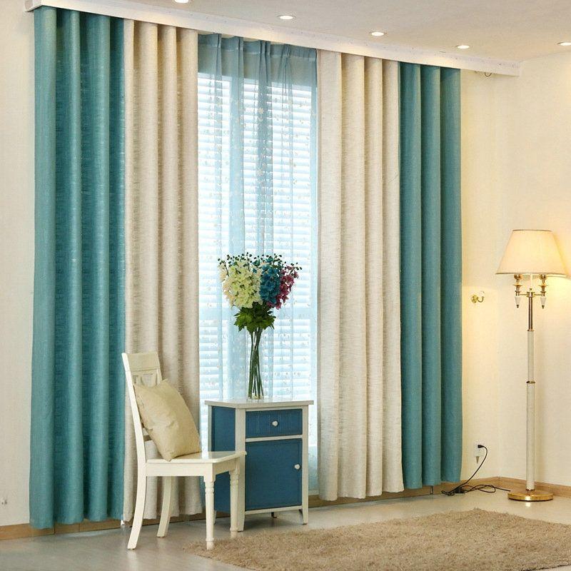 Rideau Tamisant En Polyester Épais Combinaison Des intérieur Rideau Epais