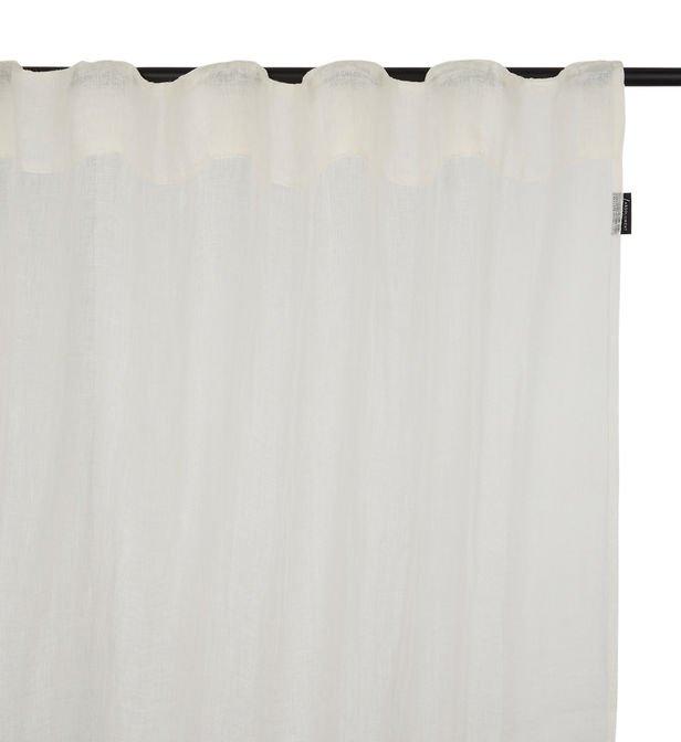 Rideau Voilage Folk Lin Blanc 135 X 200 Cm Absolument avec Rideau En Lin Blanc