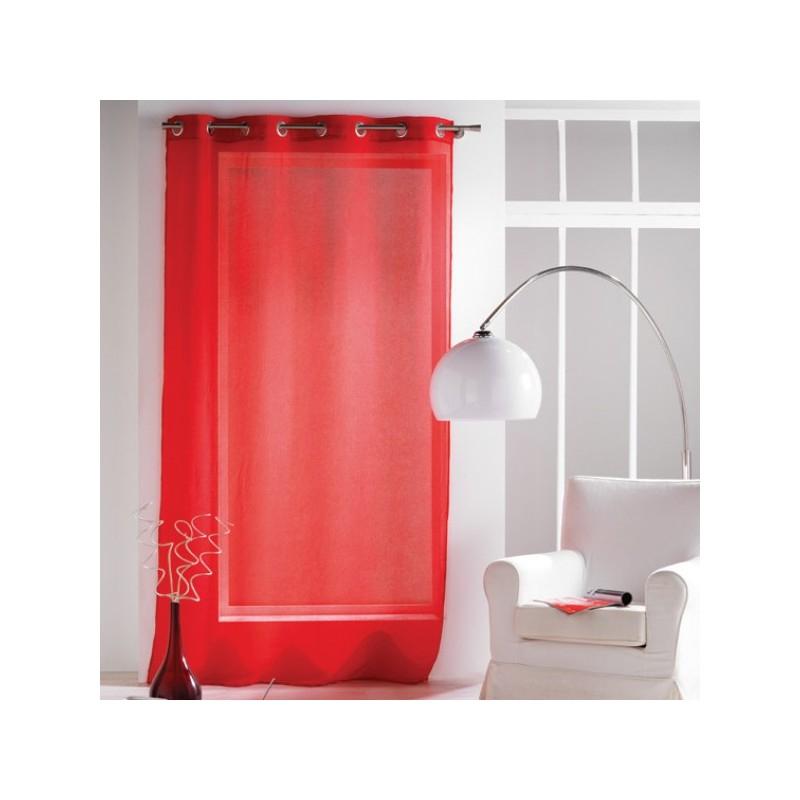 Rideau Voilage Rouge Uni À Oeillets 135 X 240 Cm Déco tout Rideau Hauteur 180
