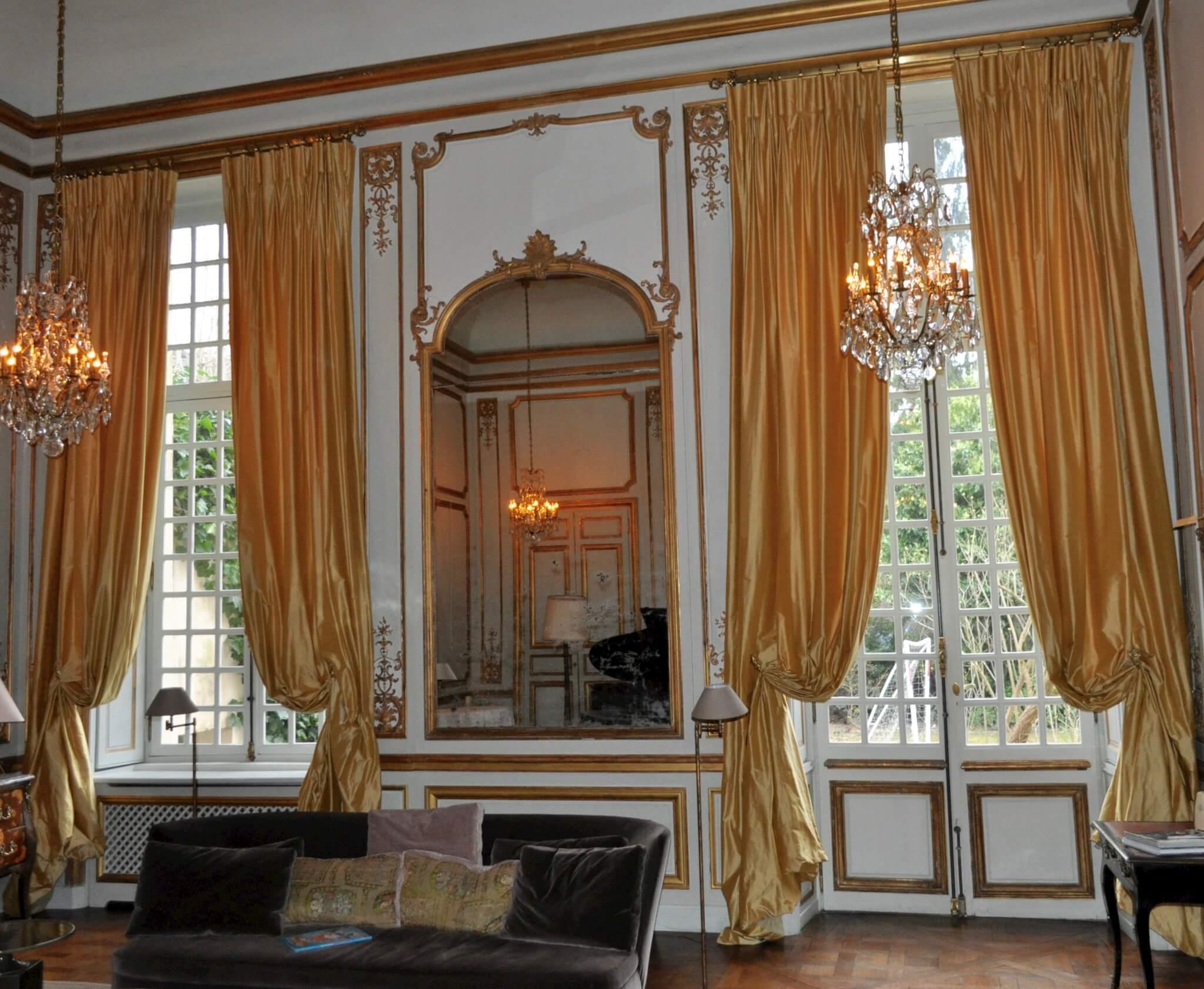 Rideaux À Têtes Flamandes Dans Hôtel Particulier - Atelier pour Rideau Double Voilage