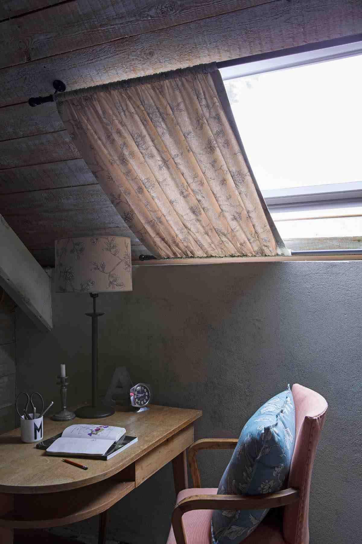 Rideaux Coulisses Design Idée Chambre Fenetre De Toit concernant Rideau Fenetre De Toit
