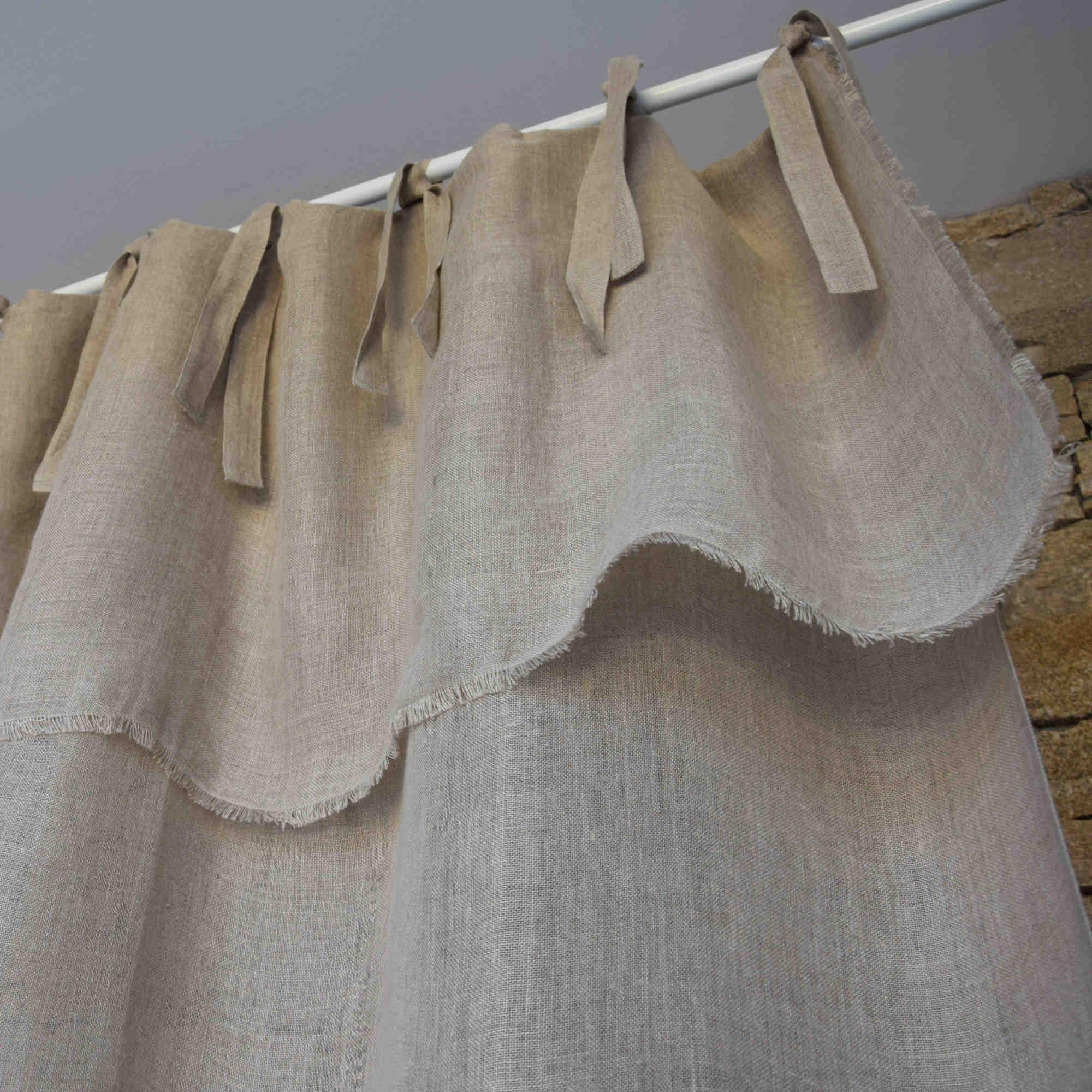 Rideaux Lin Pas Cher. Gallery Of Rideaux En Lin Naturel A avec Rideau Gaze De Lin