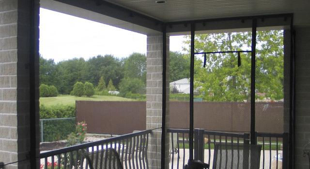 Rideaux, Moustiquaires Et Accessoires Pour Auvent - Décor concernant Rideau Plastique Transparent Pour Terrasse