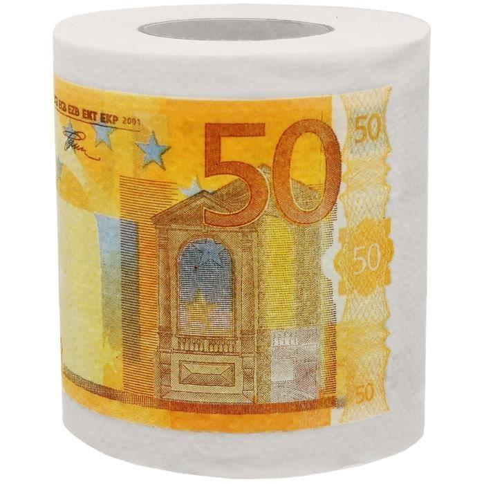 Rouleau Papier Toilette Wc Billet 50 Euros Humour Fun tout Trefle Papier Toilette