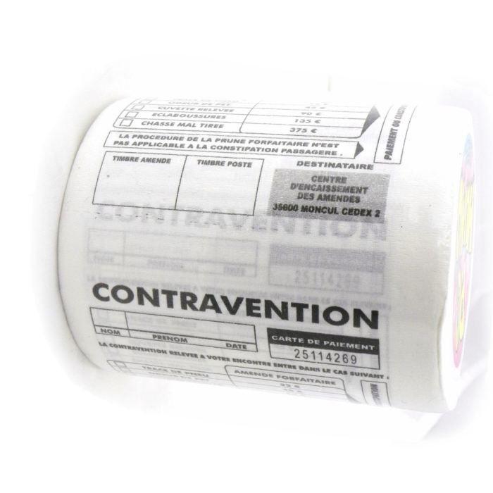 """Rouleau Wc """"Contravention"""" - Achat / Vente Papier Toilette tout Trefle Papier Toilette"""