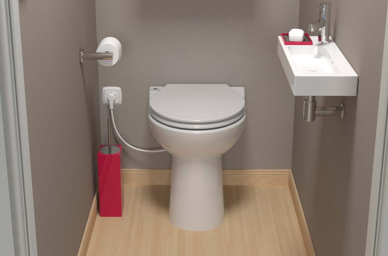Sanibroyeur Sanicompact® Elite Wc Zonder Reservoir | Badkamer concernant Toilettes Sanibroyeur