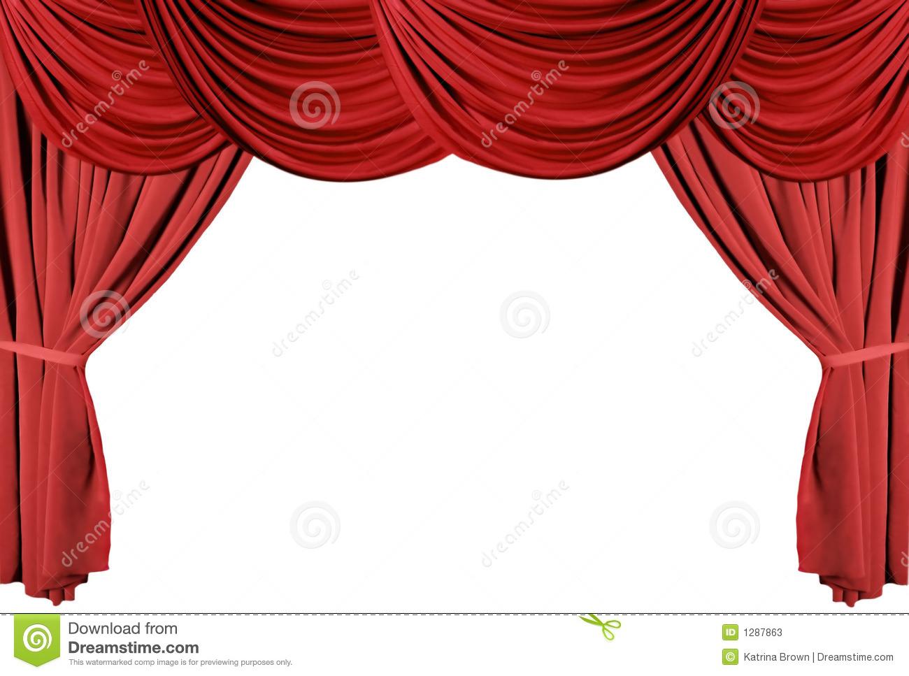 Série Drapée Rouge 3 De Rideaux En Théâtre Photos Stock destiné Rideau De Theatre
