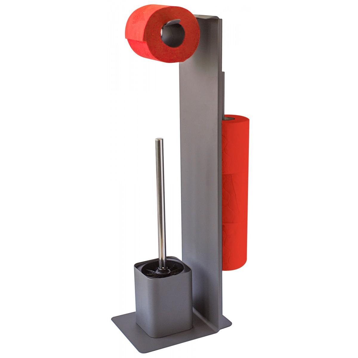 Serviteur Papier Toilette Avec Brosse Wilson Gelco Design dedans Support Papier Toilette Design