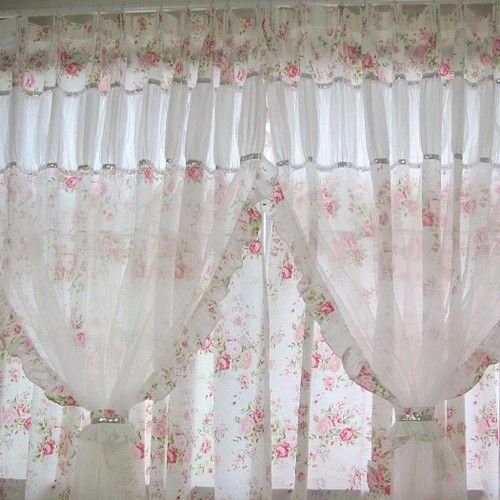 Shabby Chic Curtain | Rideaux Shabby Chic, Décoration encequiconcerne Rideaux Shabby Chic