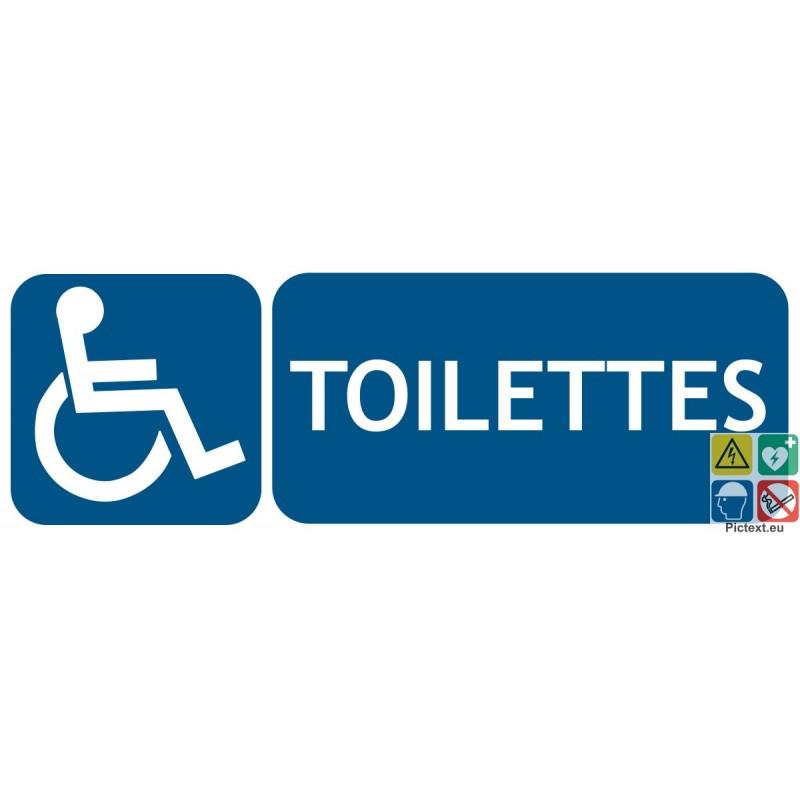 Signalétique D'Accessibilité Toilettes Handicapés Pmr pour Toilettes Handicapés
