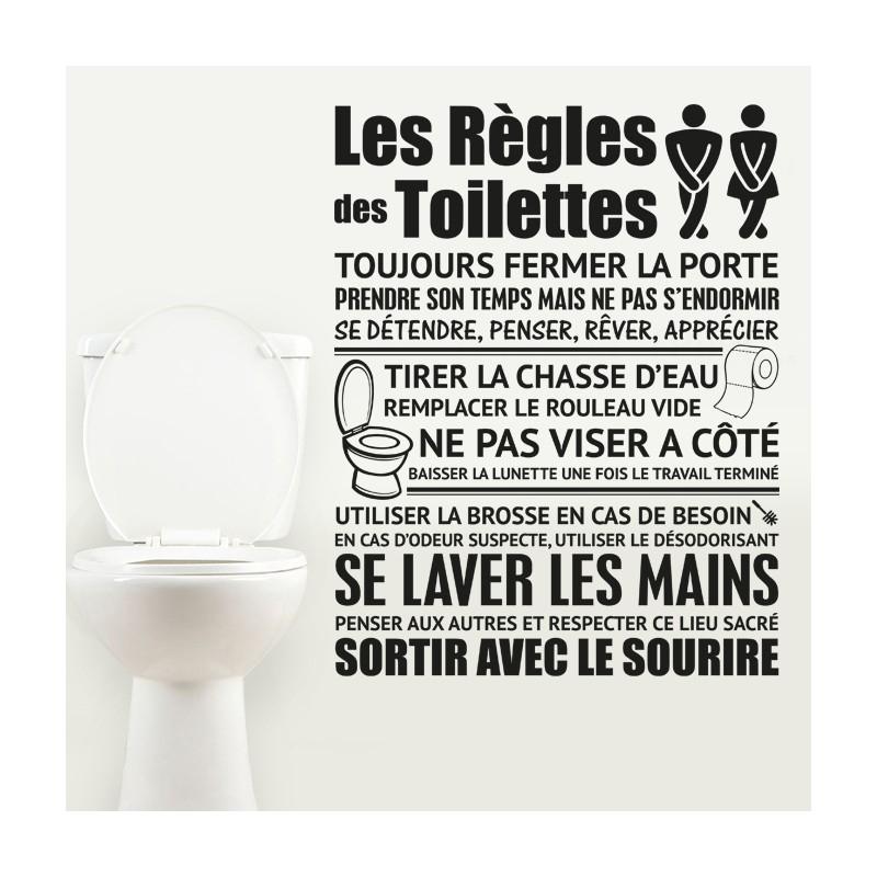 Sticker Les Règles Des Toilettes Stickers Muraux Pour Affiche Toilettes Propres Agencecormierdelauniere Com