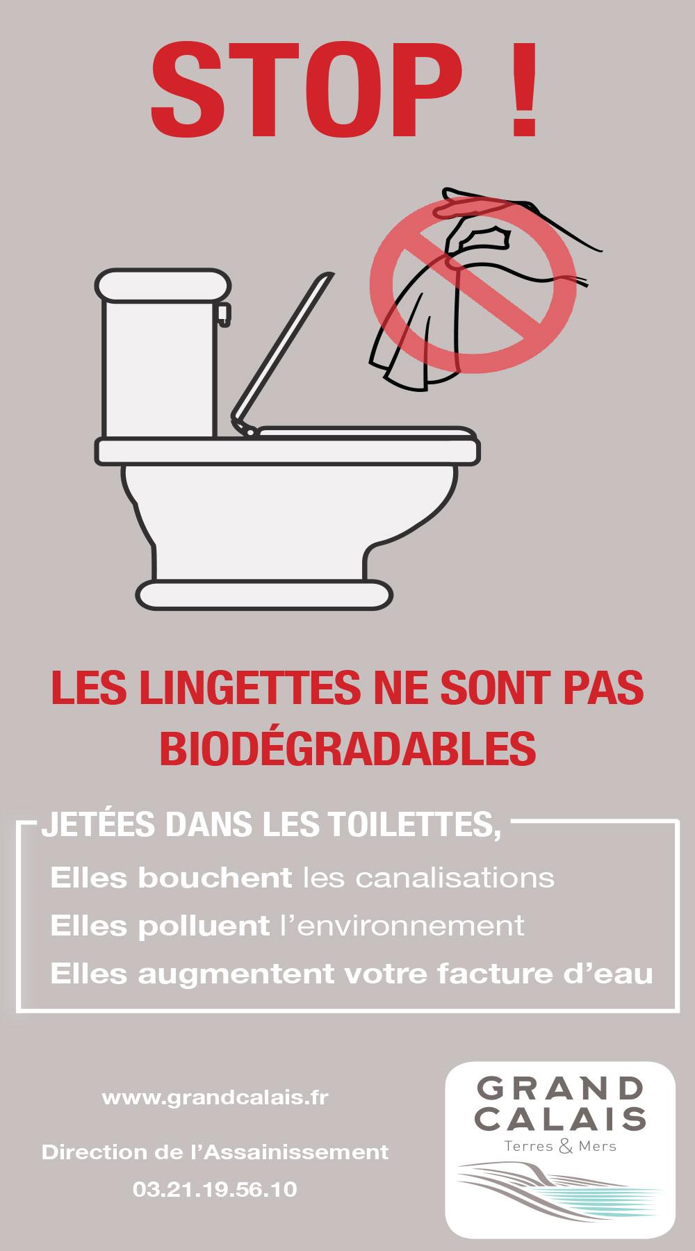 Stop Aux Lingettes Dans Les Toilettes !   Terre D'Opale à Toilettes Bouchées