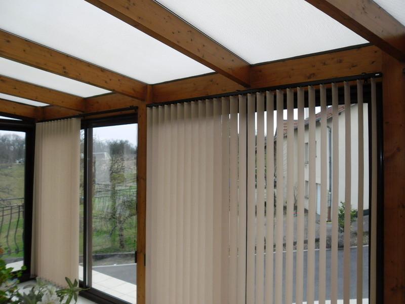Stores Californiens Pour Véranda Bois - Apl Textiles à Rideau De Toit Pour Veranda