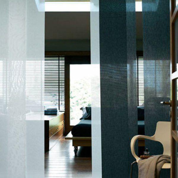 Style Zen Avec Des Panneaux Japonais | Closon Amovible intérieur Rideau Japonais Design