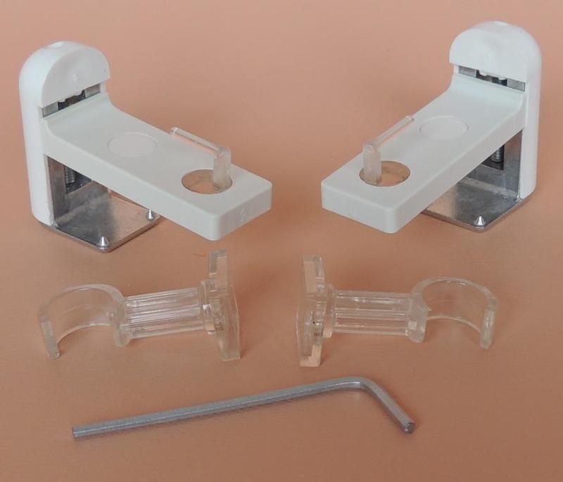 Support Tringle Rideau Plate Fenetre Pvc Sans Percage. Pas destiné Tringle Rideau Extensible Sans Perçage