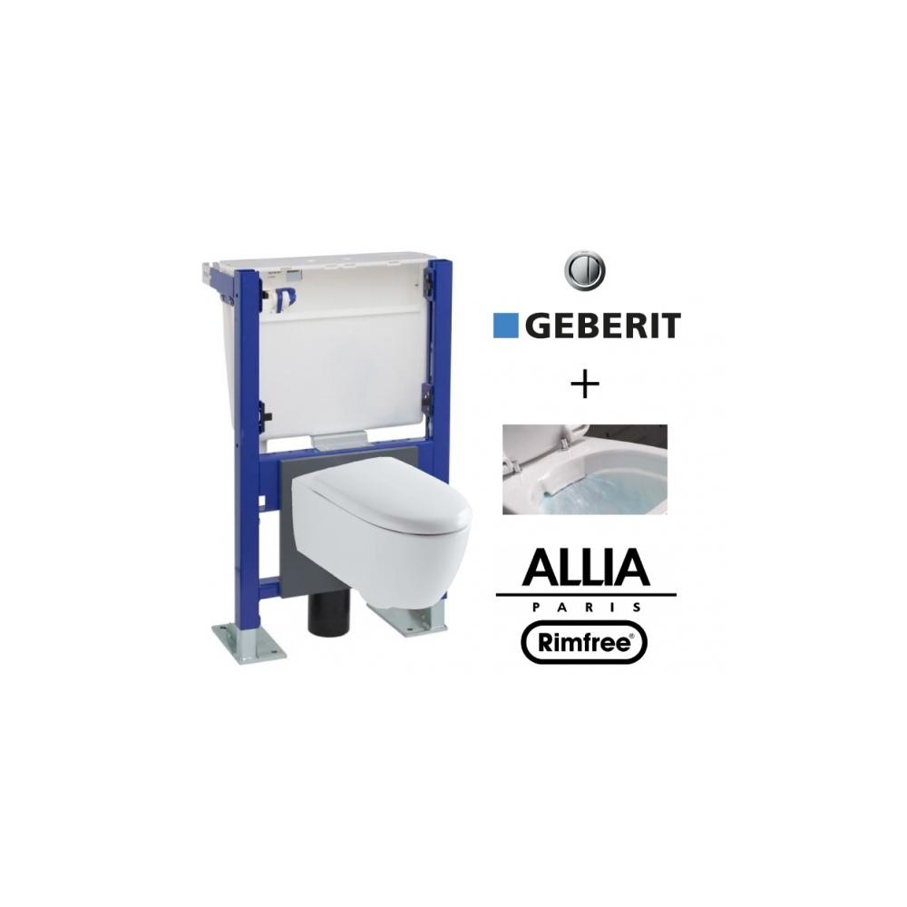 Suspended Toilet With Geberit Wall Frame And Allia Lovely avec Toilette Suspendu Geberit