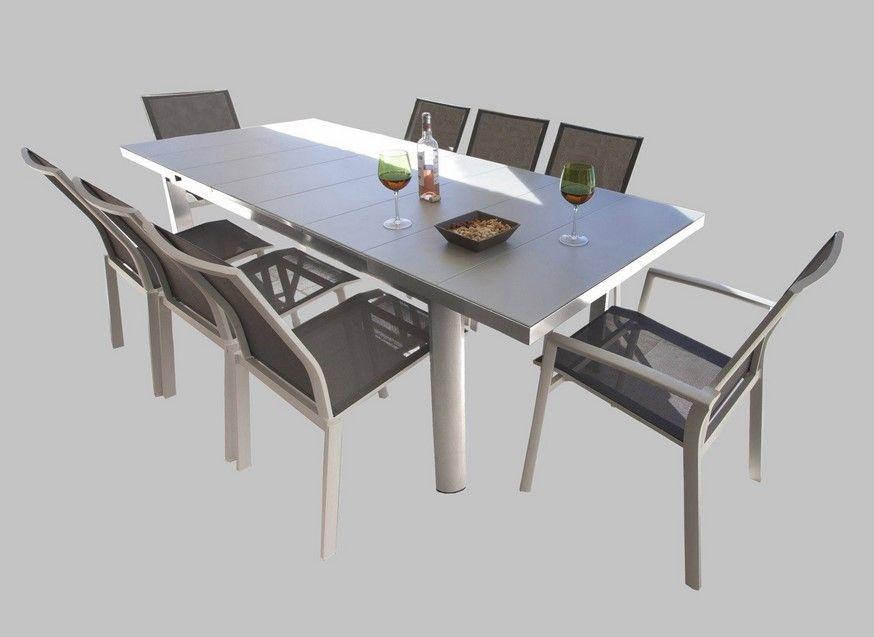 Table De Jardin Sévilla Rectangulaire Gris 8 Personnes serapportantà Cheminée De Table Leroy Merlin
