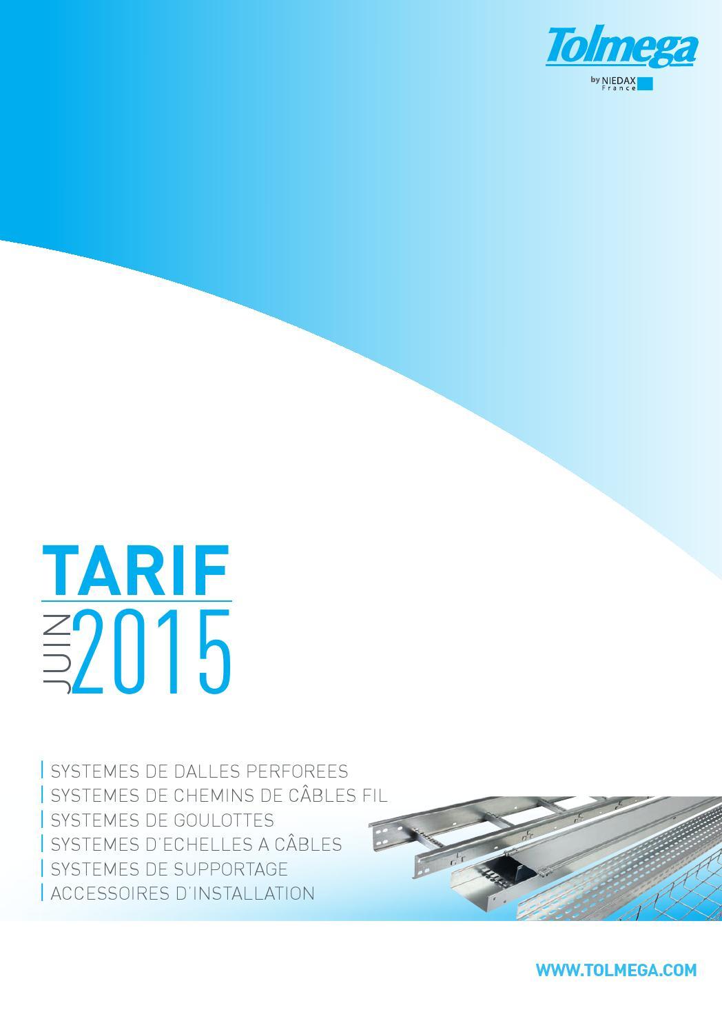 Tarifs Tolmega - Juin 2015 By Sebastien Bouey - Issuu à Ces Chemin De Cable
