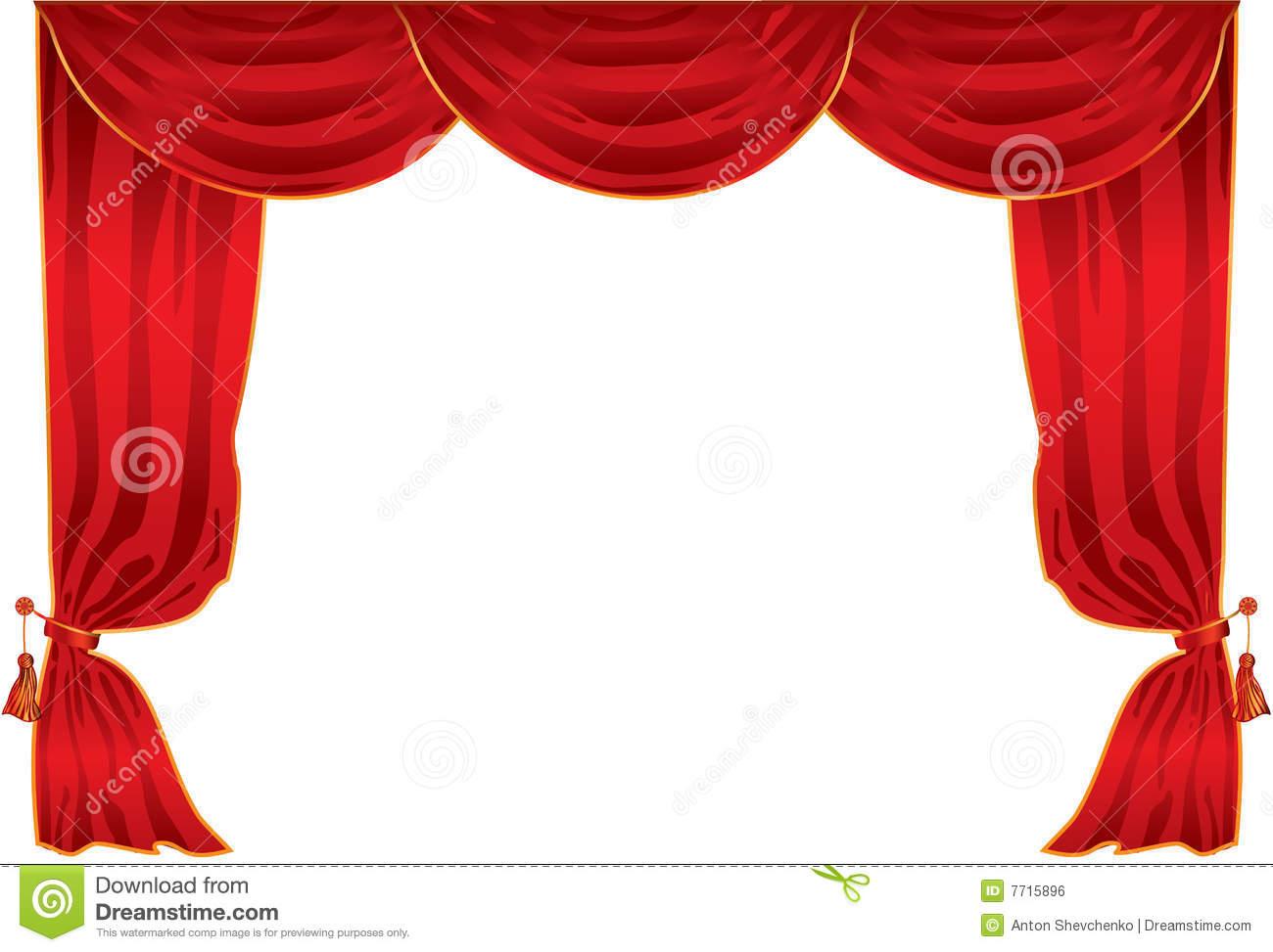 Théâtre De Rideau Image Libre De Droits - Image: 7715896 concernant Rideau De Theatre
