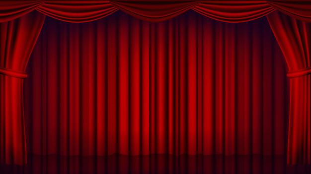 Toile De Fond De Rideau De Théâtre Rouge. Théâtre, Opéra tout Rideau De Theatre