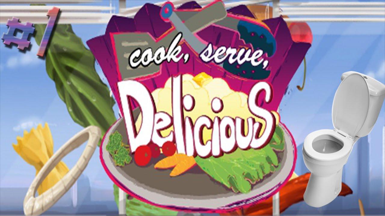 Toilet Flush Simulator 2015?!?! (Cook Serve Delicious #1 avec Toilette Simulator