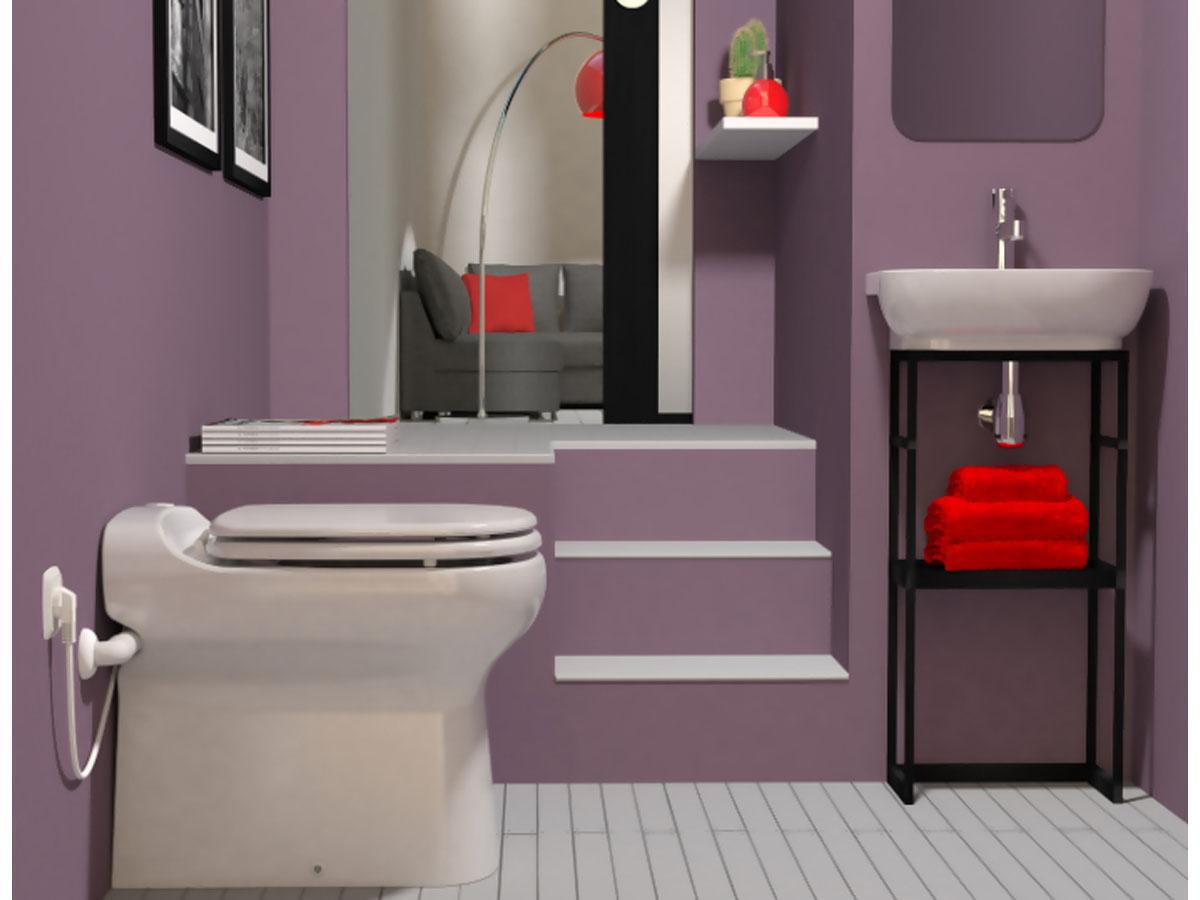 """Toilette Sanibroyeur """"Sanicompact Elite Sfa"""" 7228 destiné Toilettes Sanibroyeur"""