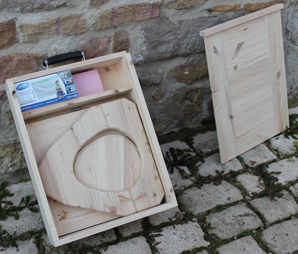 - Toilette Seche Camping Pliable Transportable En Bois destiné Toilettes Seche