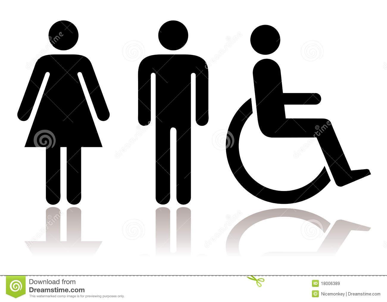 Toilettensymbole Abgeschalten Stock Abbildung tout Toilettes Handicapés