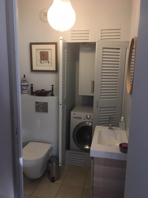 Toilettes Avec Chaudière Et Lave-Linge Intégrées destiné Placard Toilette