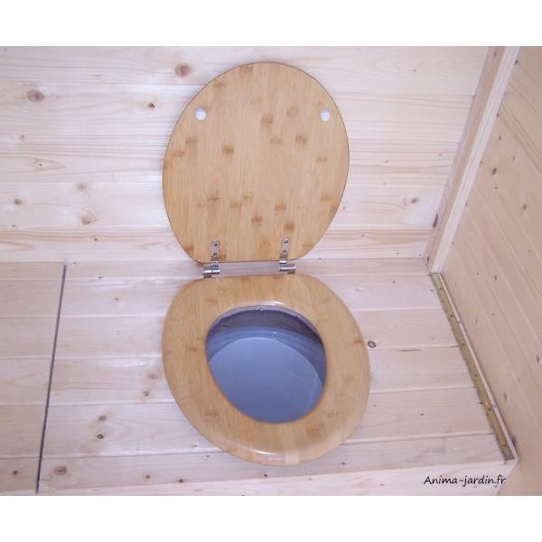 Toilettes Sèches En Bois Avec Sciure, Équipé Lave Mains concernant Toilette Seche Achat