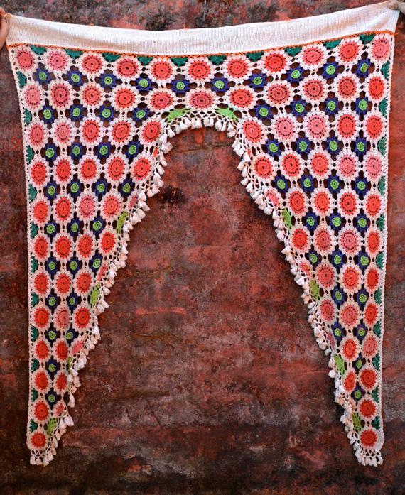 Toran Crochet Bohème Vintage Rideau Temple Indien Porte tout Rideau Indien