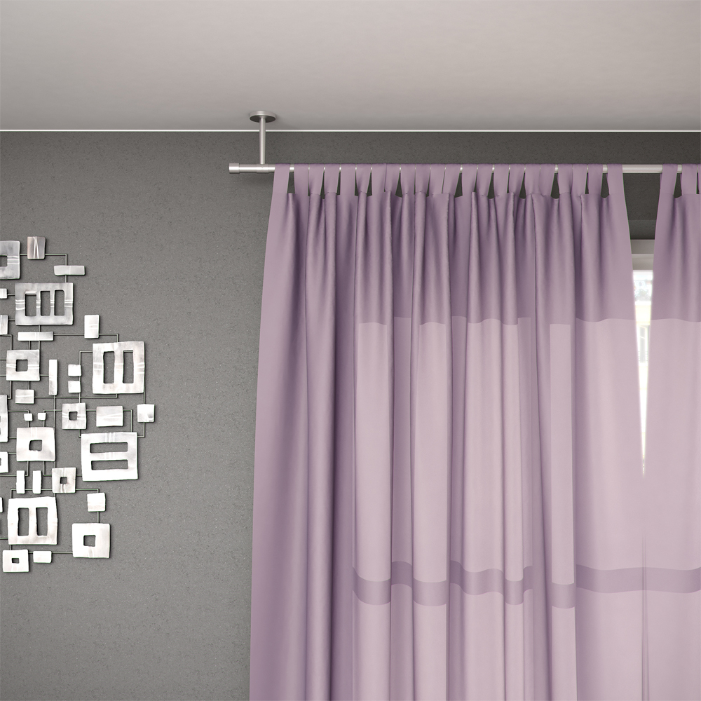 Tringle Rideau Plafond - Wikilia.fr serapportantà Rideau Et Voilage Sur Même Tringle