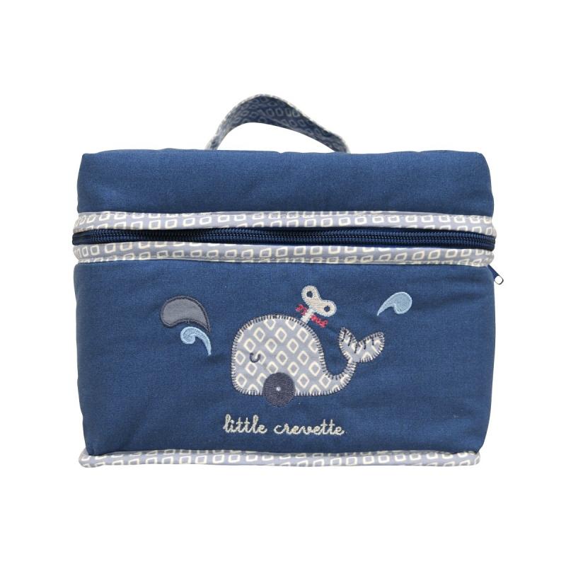 Trousse De Toilette Bébé Bleue Baleine| Little Crevette encequiconcerne Trousse De Toilette Pour Bébé