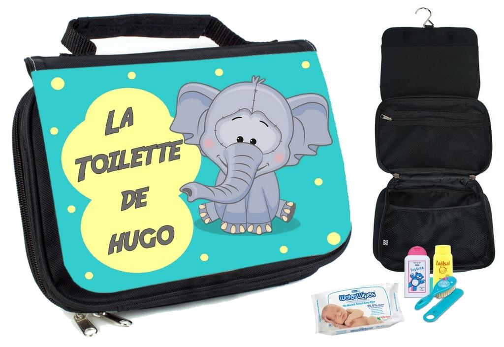Trousse De Toilette Bébé Elephant Personnalisée Avec concernant Trousse De Toilette Fille Ado