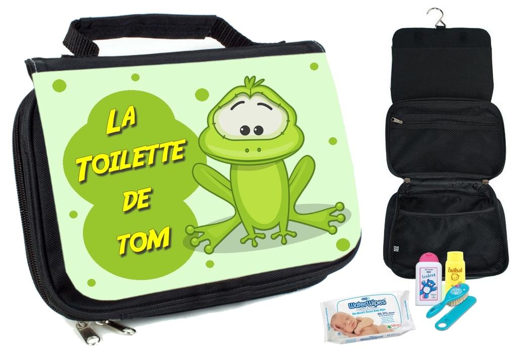 Trousse De Toilette Bébé Grenouille Personnalisée Avec dedans Trousse De Toilette Pour Ado