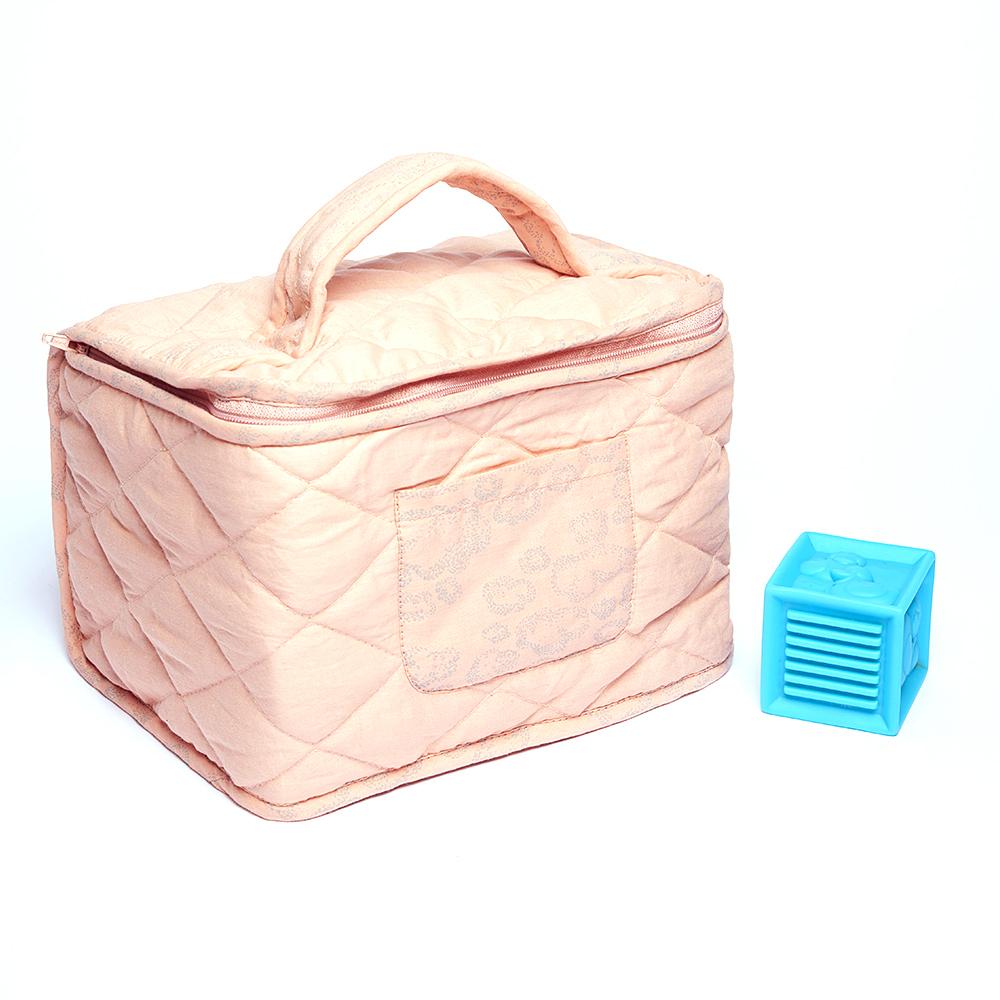 Trousse De Toilette Bébé Nuages - Vieux Rose Sweetcase intérieur Trousse De Toilette Bebe Fille