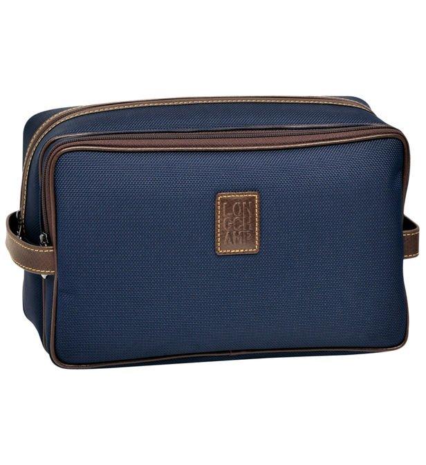 Trousse De Toilette Boxford Longchamp En Bleu - Galeries pour Trousse De Toilette Homme Longchamp