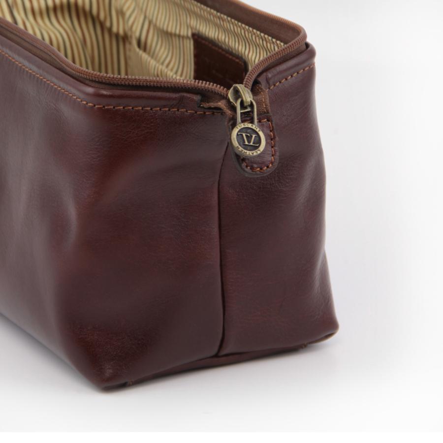 Trousse De Toilette Cuir Smarty - Tuscany Leather encequiconcerne Trousse De Toilette Homme Cuir
