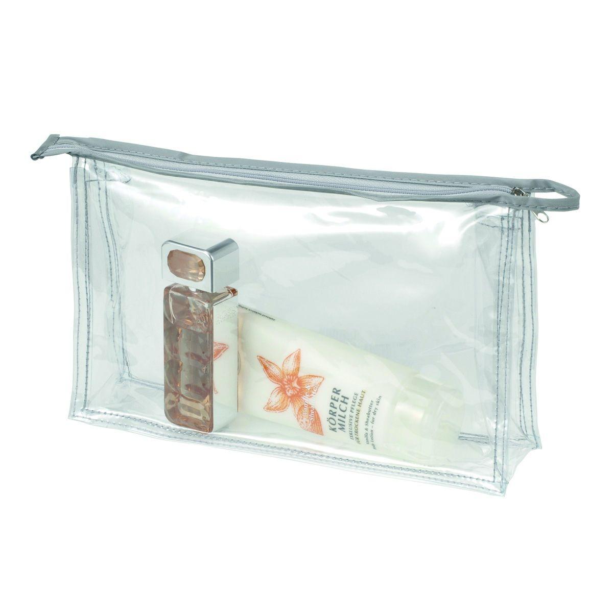 Trousse De Toilette Ou Maquillage Zippée Transparente intérieur Trousse De Toilette Cabine Avion