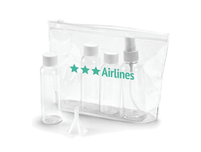 Trousse De Toilette Personnalisée - Cabine Avion | Ref encequiconcerne Trousse De Toilette Transparente Pour Avion