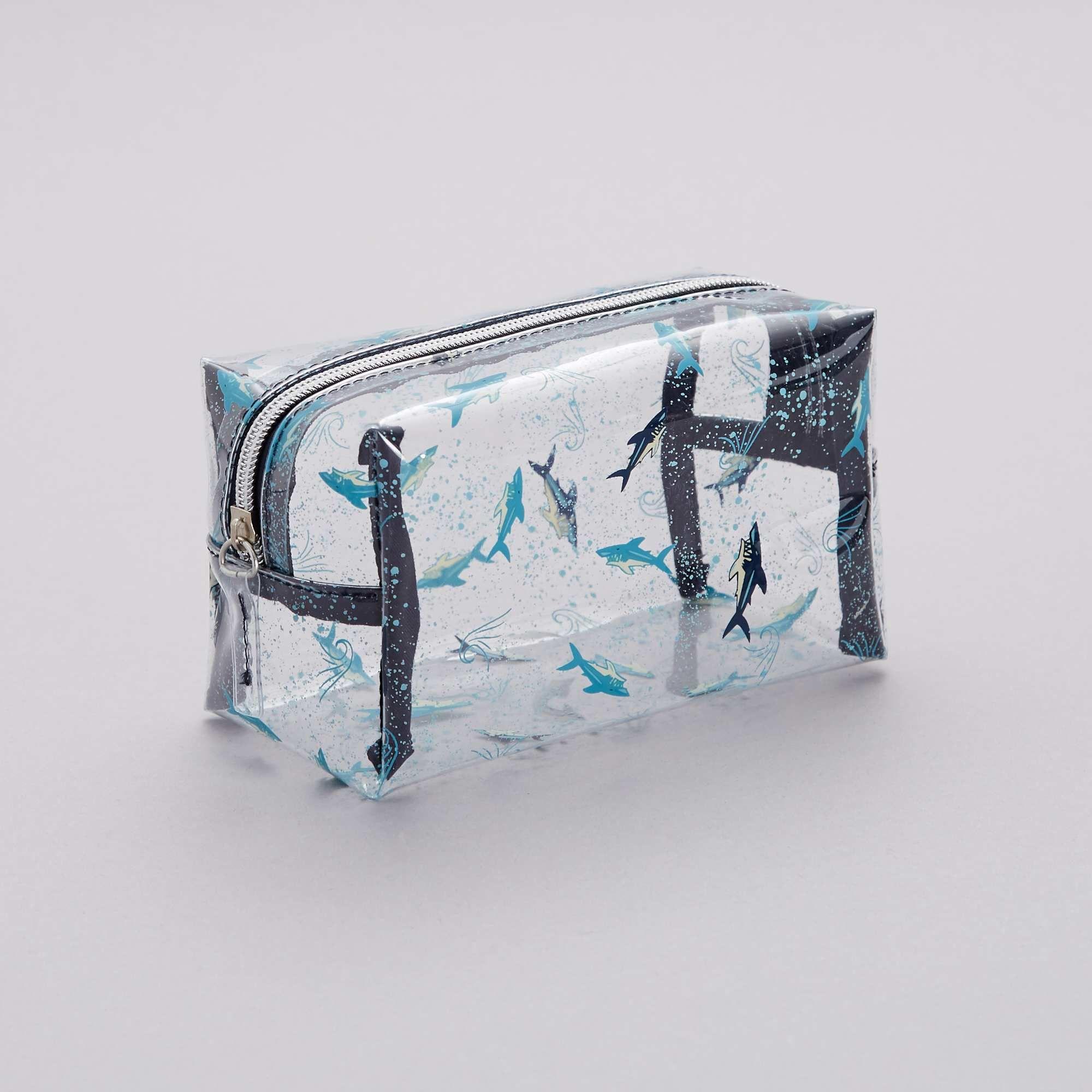 Trousse De Toilette Transparente 'Requins' Garçon - Bleu à Trousse De Toilette Garcon