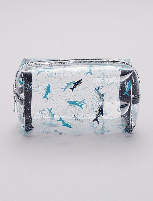Trousse De Toilette Transparente 'Requins' Garçon - Bleu destiné Trousse Toilette Garcon