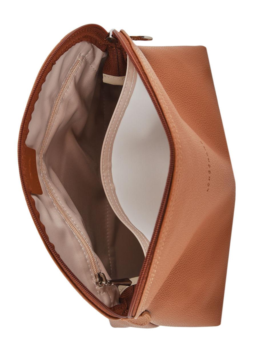 Trousses De Toilette Longchamp 1047021 Caramel Sur Edisac destiné Trousse De Toilette Longchamp